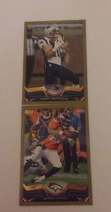 2 2013 Topps Gold Dated Football Cards - D Amendola & J Tamme