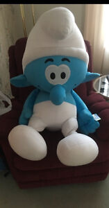 Giant stuffed Smurf, smoke free home