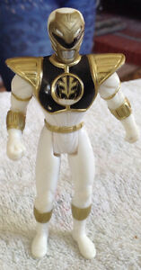 FIGURINE POWER RANGER 1995 SABAN. WHITE RANGERS