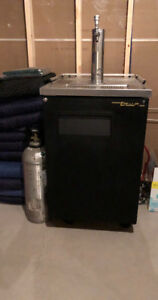Draft Beer Fridge with CO2 Tank