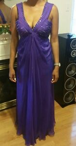 SIZE 10/12 PURPLE FORMAL GOWN