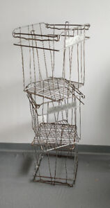 Vintage Metal Wire Egg Crates, 3 Available