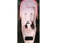 Quinny Miami pink zapp xtra 2 with newborn inlay