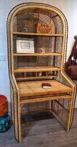 Wicker Boho desk 1970's