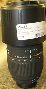 Sigma 70-300 mm lens (Nikon Mount)