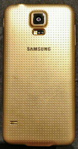 Samsung Galaxy S5, gold, mint condition