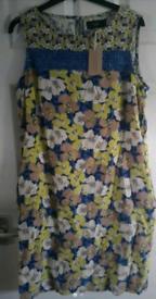 Next Floral Print Linen Dress