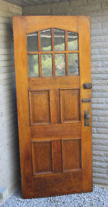 Gorgeous Vintage Wood & Glass Door