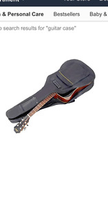 Soft sided guitar carrying case