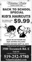 Back To School Special on Kids Haircuts!