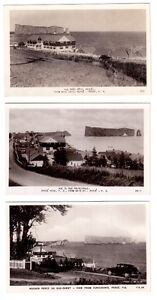 3 cartes postales photos anciennes de PERCÉ,  Qué.