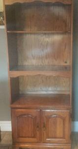 Three Piece Wall Unit  - Oak - Excellent Condition