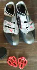Diadora road bike shoes and clips