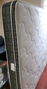 Upholstered bed frame+foam mattress ... Mint Condition