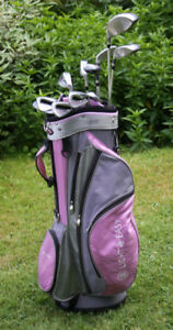 Ladies Pink and Grey Square Two Light & Easy golf clubs.