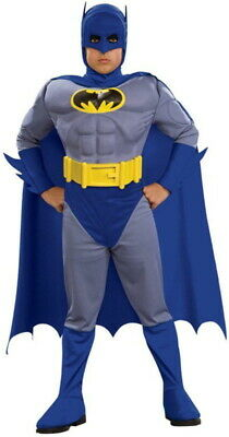 Kids Batman Muscle Chest Deluxe Costume Child L large 12-14 Rubies Blue  NIP](Blue Batman Costume Kids)