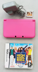 Nintendo 3DS XL Pink complete two games, original Charger and Stylus