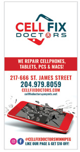 iPhone, iPad, CellPhone Repairs - Across Polo Park Mall!