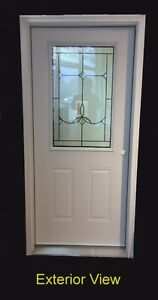 "Entry Door with Full Frame (36"" x 80"") w/ 22"" x 36"" D/L"