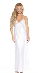 Shirley Of Hollywood Women's Charmeuse And Lace Long Gown