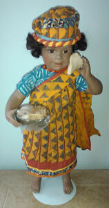 Collectible Porcelain Senegalese Doll