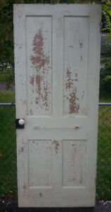 Old weathered country home farm solid wood door