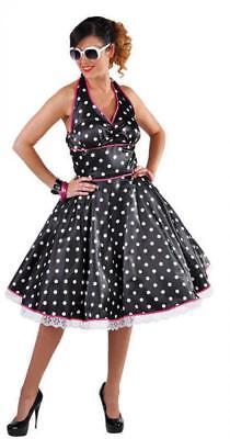 50er Jahre Kleid Kostüm Rock n Roll Petticoat Damen Rockabilly Polka Punkte - Tanz Rock N Roll Kostüm