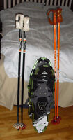 "28"" Mc kinley Snowshoes with 2 sets of poles excellent"