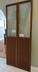 2 OXBERG Doors for IKEA BILLY (Brown ash)