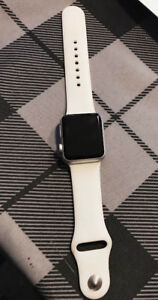 Apple Watch 38 mm Sport with White Sport band (non negotiable)
