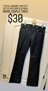 Premium and Affordable Denim Sale, Size 25 or 0, All Must Go!
