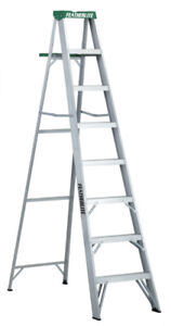 Featherlite Aluminum step ladder 8 Feet grade 2