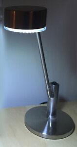 BNIB LED Desk /Table Lamp Brushed Aluminum 17 inch