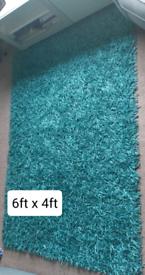 Teal rug