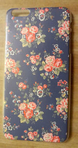 NEW IPHONE 6 PLUS HARD COVER CASE, DENIM FLORAL PRINT STYLE