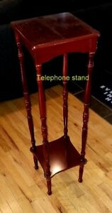 Telephone stand mahogany color