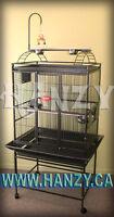 Cage Neuve Noir pour perroquet (Cacatoes, gris d'affrique, conur