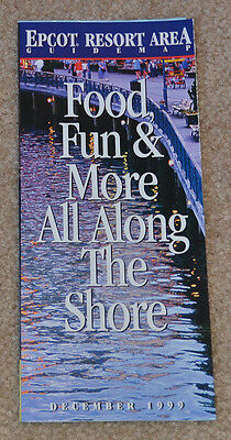 December 99 EPCOT Resort Area Guide Map DISNEY'S BOARDWALK Yacht and Beach Club