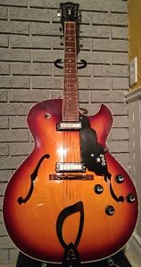Guild T100D mid 60s Sunburst Two pickup Slim Jim archtop
