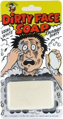 Dirty Face Soap Practical Joke Prank Gag Party Bag Christmas Stocking Fillers UK ()