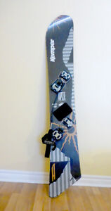 Snowboard Kemper Kevlar reinforced with Bindings and Leash