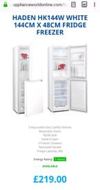 HADEN Fridge Freezer. Brand new unused. Collection only.