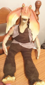 Star Wars JAR JAR BINKS  talking alarm clock doll figure