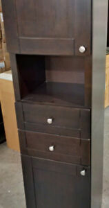 SOLID WOOD - LINEN TOWER CABINET - VARIETY OF COLORS - CLEARANCE