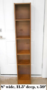 Tall skinny Bookcase, can be used as a shoe rack in closet