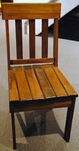 2 Pine dining or desk chairs
