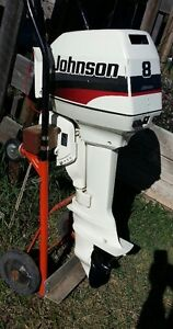 8 hp Johnson Outboard near new condition