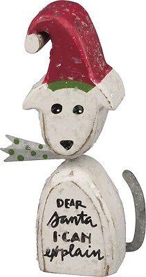 WOOD CHUNKY CHRISTMAS DOG