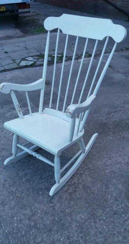 White wooden rocker - needs repainting