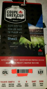 1 Grey cup ticket